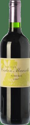 74,95 € Free Shipping | Red wine Château Certan Marzelle A.O.C. Pomerol Bordeaux France Merlot Bottle 75 cl