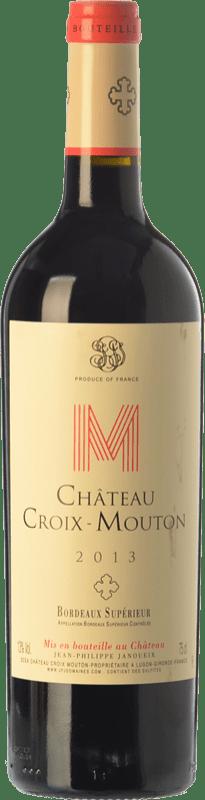 11,95 € Free Shipping | Red wine Château Croix-Mouton Crianza A.O.C. Bordeaux Supérieur Bordeaux France Merlot, Cabernet Franc, Petit Verdot Bottle 75 cl