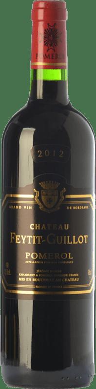 28,95 € Free Shipping | Red wine Château Feytit-Guillot Crianza A.O.C. Pomerol Bordeaux France Merlot, Cabernet Sauvignon, Cabernet Franc Bottle 75 cl