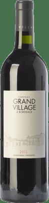 16,95 € Free Shipping | Red wine Château Grand Village Crianza A.O.C. Bordeaux Bordeaux France Merlot, Cabernet Franc Bottle 75 cl