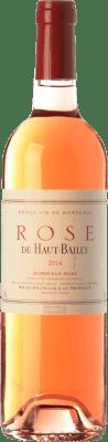14,95 € Free Shipping | Rosé wine Château Haut-Bailly Rose A.O.C. Bordeaux Bordeaux France Cabernet Sauvignon Bottle 75 cl