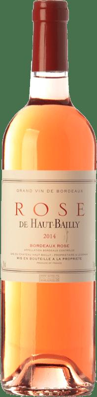 12,95 € Free Shipping | Rosé wine Château Haut-Bailly Rose A.O.C. Bordeaux Bordeaux France Cabernet Sauvignon Bottle 75 cl