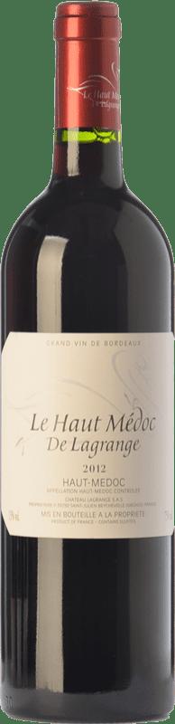 18,95 € Free Shipping | Red wine Château Lagrange Le Haut Médoc Crianza A.O.C. Haut-Médoc Bordeaux France Merlot, Cabernet Sauvignon Bottle 75 cl