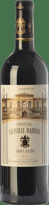 74,95 € Envoi gratuit | Vin rouge Château Léoville Barton Reserva A.O.C. Saint-Julien Bordeaux France Merlot, Cabernet Sauvignon, Cabernet Franc Bouteille 75 cl