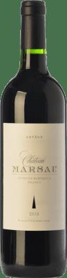 11,95 € Free Shipping | Red wine Château Marsau Arpège Crianza A.O.C. Côtes de Bordeaux Bordeaux France Merlot Bottle 75 cl