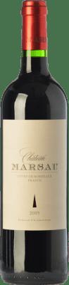 24,95 € Free Shipping | Red wine Château Marsau Crianza A.O.C. Côtes de Bordeaux Bordeaux France Merlot Bottle 75 cl