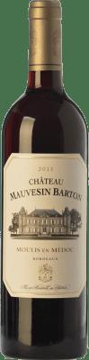 24,95 € Free Shipping | Red wine Château Mauvesin Barton Crianza A.O.C. Moulis-en-Médoc Bordeaux France Merlot, Cabernet Sauvignon, Cabernet Franc, Petit Verdot Bottle 75 cl