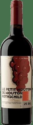 514,95 € Free Shipping | Red wine Château Mouton-Rothschild Le Petit Mouton Crianza A.O.C. Pauillac Bordeaux France Merlot, Cabernet Sauvignon Bottle 75 cl