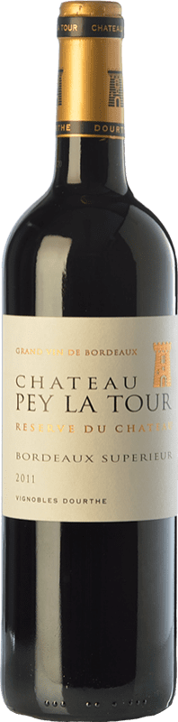9,95 € Free Shipping | Red wine Château Pey La Tour Réserve du Château Reserva A.O.C. Bordeaux Supérieur Bordeaux France Merlot, Cabernet Sauvignon, Petit Verdot Bottle 75 cl