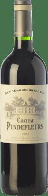 42,95 € Free Shipping | Red wine Château Pindefleurs Crianza A.O.C. Saint-Émilion Grand Cru Bordeaux France Merlot, Cabernet Franc Bottle 75 cl