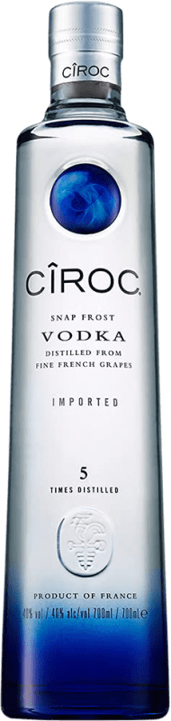 27,95 € Free Shipping | Vodka Cîroc France Bottle 70 cl | Thousands of wine lovers trust us to get the best price guarantee, free shipping always and hassle-free shopping and returns.