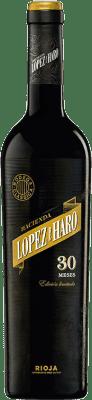33,95 € Envío gratis | Vino tinto Classica Hacienda López de Haro 30 Meses Gran Reserva D.O.Ca. Rioja La Rioja España Tempranillo, Garnacha Botella 75 cl