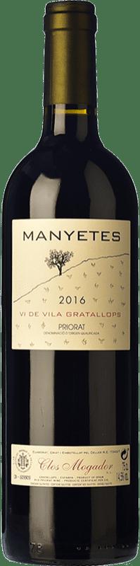 64,95 € Free Shipping | Red wine Clos Mogador Manyetes Vi de Vila Gratallops Crianza D.O.Ca. Priorat Catalonia Spain Carignan Bottle 75 cl