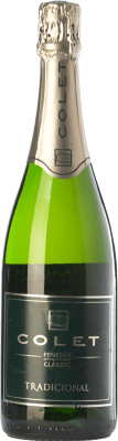12,95 € Free Shipping | White sparkling Colet Tradicional Extra Brut D.O. Penedès Catalonia Spain Macabeo, Xarel·lo, Parellada Bottle 75 cl. | Thousands of wine lovers trust us to get the best price guarantee, free shipping always and hassle-free shopping and returns.