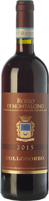 19,95 € Free Shipping | Red wine Collosorbo D.O.C. Rosso di Montalcino Tuscany Italy Sangiovese Bottle 75 cl