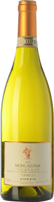 15,95 € Free Shipping | Sweet wine Coppo Moncalvina D.O.C.G. Moscato d'Asti Piemonte Italy Muscatel White Bottle 75 cl