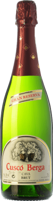 9,95 € Free Shipping | White sparkling Cuscó Berga Brut Gran Reserva D.O. Cava Catalonia Spain Macabeo, Xarel·lo, Parellada Bottle 75 cl | Thousands of wine lovers trust us to get the best price guarantee, free shipping always and hassle-free shopping and returns.