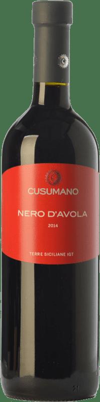 11,95 € Free Shipping | Red wine Cusumano I.G.T. Terre Siciliane Sicily Italy Nero d'Avola Bottle 75 cl