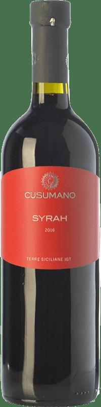 11,95 € Free Shipping | Red wine Cusumano I.G.T. Terre Siciliane Sicily Italy Syrah Bottle 75 cl