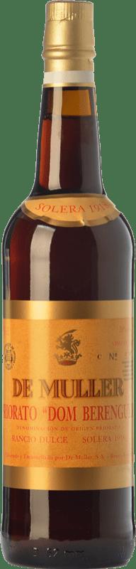 39,95 € Envío gratis | Vino dulce De Muller Dom Berenguer Solera 1918 D.O.Ca. Priorat Cataluña España Garnacha, Garnacha Blanca, Moscatel de Alejandría Botella 75 cl
