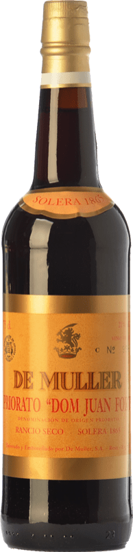 49,95 € Free Shipping | Fortified wine De Muller Dom Juan Fort Solera 1865 D.O.Ca. Priorat Catalonia Spain Grenache, Grenache White, Muscat of Alexandria Bottle 75 cl