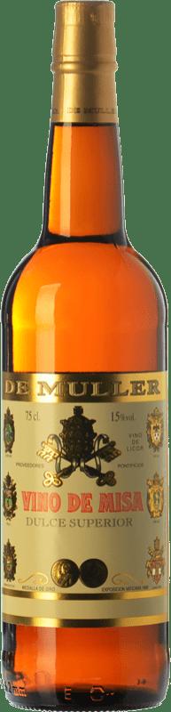 6,95 € Envío gratis | Vino dulce De Muller Vino de Misa D.O. Terra Alta Cataluña España Garnacha Blanca, Macabeo Botella 75 cl