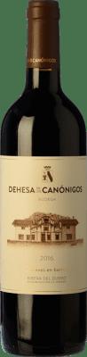 16,95 € Бесплатная доставка | Красное вино Dehesa de los Canónigos 15 Meses Crianza D.O. Ribera del Duero Кастилия-Леон Испания Tempranillo, Cabernet Sauvignon, Albillo бутылка 75 cl | Тысячи любителей вина уверены, что у нас гарантирована лучшая цена, всегда поставляются бесплатно и покупают и возвращают без осложнений.