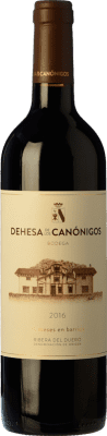 16,95 € Free Shipping | Red wine Dehesa de los Canónigos 15 Meses Crianza D.O. Ribera del Duero Castilla y León Spain Tempranillo, Cabernet Sauvignon, Albillo Bottle 75 cl | Thousands of wine lovers trust us to get the best price guarantee, free shipping always and hassle-free shopping and returns.