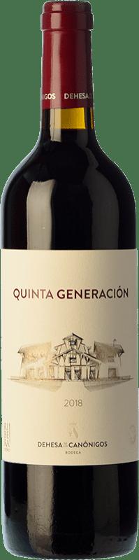 12,95 € Free Shipping | Red wine Dehesa de los Canónigos Quinta Generación Joven D.O. Ribera del Duero Castilla y León Spain Tempranillo Bottle 75 cl