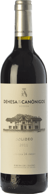 51,95 € Free Shipping | Red wine Dehesa de los Canónigos Solideo 24 Meses Reserva D.O. Ribera del Duero Castilla y León Spain Tempranillo, Cabernet Sauvignon, Albillo Bottle 75 cl | Thousands of wine lovers trust us to get the best price guarantee, free shipping always and hassle-free shopping and returns.