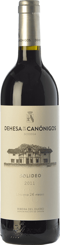 44,95 € Envoi gratuit | Vin rouge Dehesa de los Canónigos Solideo 24 Meses Reserva D.O. Ribera del Duero Castille et Leon Espagne Tempranillo, Cabernet Sauvignon, Albillo Bouteille 75 cl