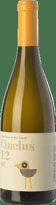 12,95 € Envío gratis | Vino blanco DG Cinclus SC Crianza D.O. Penedès Cataluña España Loureiro, Albariño, Incroccio Manzoni Botella 75 cl
