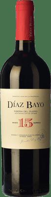 13,95 € Free Shipping | Red wine Díaz Bayo Nuestro Crianza D.O. Ribera del Duero Castilla y León Spain Tempranillo Bottle 75 cl
