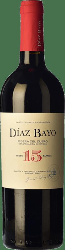 13,95 € Envoi gratuit | Vin rouge Díaz Bayo Nuestro Crianza D.O. Ribera del Duero Castille et Leon Espagne Tempranillo Bouteille 75 cl