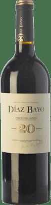 25,95 € Free Shipping | Red wine Díaz Bayo Nuestro 20 Meses Crianza D.O. Ribera del Duero Castilla y León Spain Tempranillo Bottle 75 cl