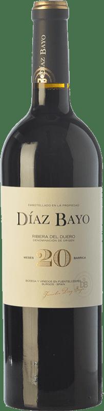 25,95 € Envoi gratuit | Vin rouge Díaz Bayo Nuestro 20 Meses Crianza D.O. Ribera del Duero Castille et Leon Espagne Tempranillo Bouteille 75 cl