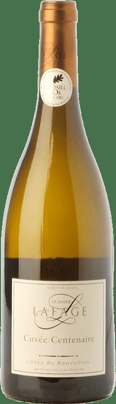 9,95 € Envío gratis | Vino blanco Domaine Lafage Cuvée Centenaire Crianza A.O.C. Côtes du Roussillon Languedoc-Roussillon Francia Garnacha Blanca, Roussanne Botella 75 cl