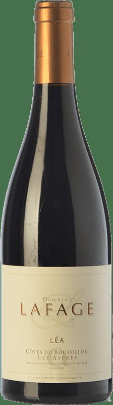 22,95 € Envoi gratuit | Vin rouge Domaine Lafage Cuvée Léa Crianza A.O.C. Côtes du Roussillon Languedoc-Roussillon France Syrah, Grenache, Carignan Bouteille 75 cl