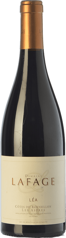 22,95 € Envío gratis | Vino tinto Domaine Lafage Cuvée Léa Crianza A.O.C. Côtes du Roussillon Languedoc-Roussillon Francia Syrah, Garnacha, Cariñena Botella 75 cl