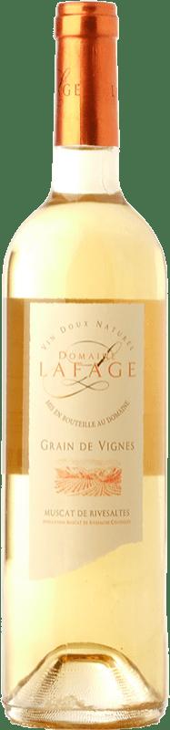18,95 € Free Shipping | Sweet wine Domaine Lafage Grain de Vignes A.O.C. Muscat de Rivesaltes Languedoc-Roussillon France Muscat of Alexandria, Muscatel Small Grain Bottle 75 cl