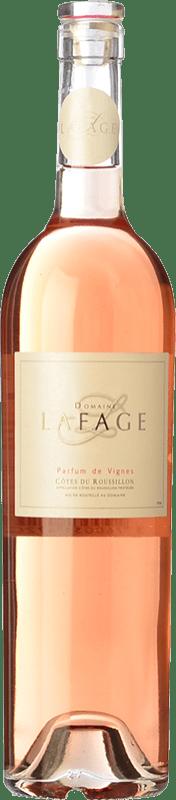 11,95 € Envío gratis | Vino rosado Domaine Lafage Parfum de Vignes A.O.C. Côtes du Roussillon Languedoc-Roussillon Francia Syrah, Garnacha, Cariñena Botella 75 cl