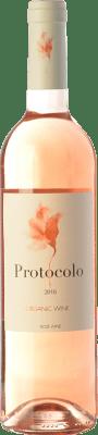 4,95 € Envío gratis | Vino rosado Dominio de Eguren Protocolo Joven I.G.P. Vino de la Tierra de Castilla Castilla la Mancha España Tempranillo, Bobal Botella 75 cl