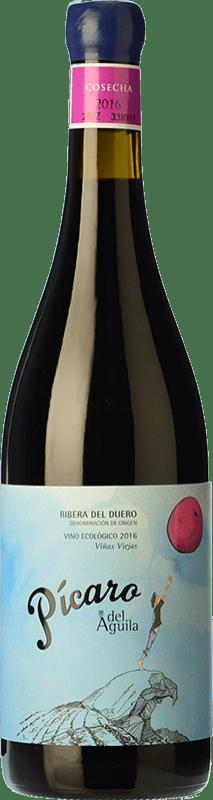 21,95 € Free Shipping | Red wine Dominio del Águila Pícaro del Águila Crianza D.O. Ribera del Duero Castilla y León Spain Tempranillo, Grenache, Bobal, Albillo Bottle 75 cl
