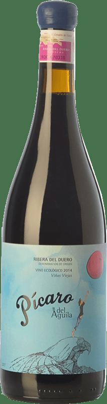244,95 € Free Shipping | Red wine Dominio del Águila Pícaro del Águila Crianza D.O. Ribera del Duero Castilla y León Spain Tempranillo, Grenache, Bobal, Albillo Special Bottle 5 L