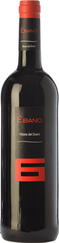 9,95 € Free Shipping | Red wine Ébano 6 Joven D.O. Ribera del Duero Castilla y León Spain Tempranillo Bottle 75 cl