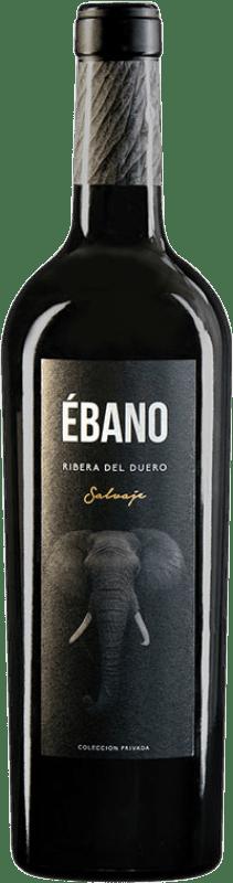 19,95 € Free Shipping | Red wine Ébano Salvaje Crianza D.O. Ribera del Duero Castilla y León Spain Tempranillo Bottle 75 cl