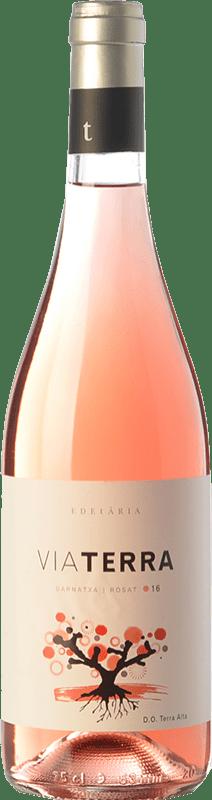 8,95 € Envío gratis | Vino rosado Edetària Via Terra Rosat D.O. Terra Alta Cataluña España Garnacha Peluda Botella 75 cl
