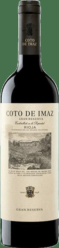 19,95 € Envío gratis | Vino tinto Coto de Rioja Coto de Imaz Gran Reserva D.O.Ca. Rioja La Rioja España Tempranillo Botella 75 cl