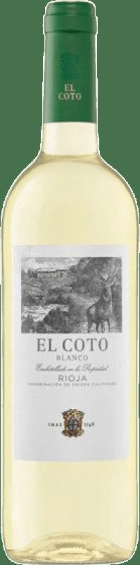 4,95 € Envío gratis | Vino blanco Coto de Rioja Joven D.O.Ca. Rioja La Rioja España Viura Botella 75 cl