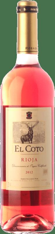 5,95 € Envío gratis | Vino rosado Coto de Rioja Joven D.O.Ca. Rioja La Rioja España Tempranillo, Garnacha Botella 75 cl